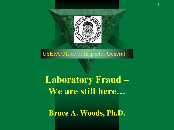 laboratory fraud we are still here bruce a woods ph d n.
