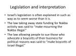 legislation and interpretation