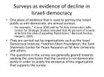 surveys as evidence of decline in israeli democracy