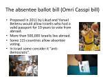the absentee ballot bill omri casspi bill