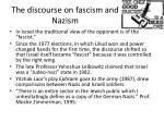 the discourse on fascism and nazism
