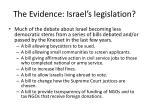 the evidence israel s legislation