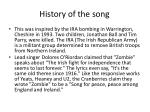history of the song1