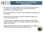 risk management program requirements