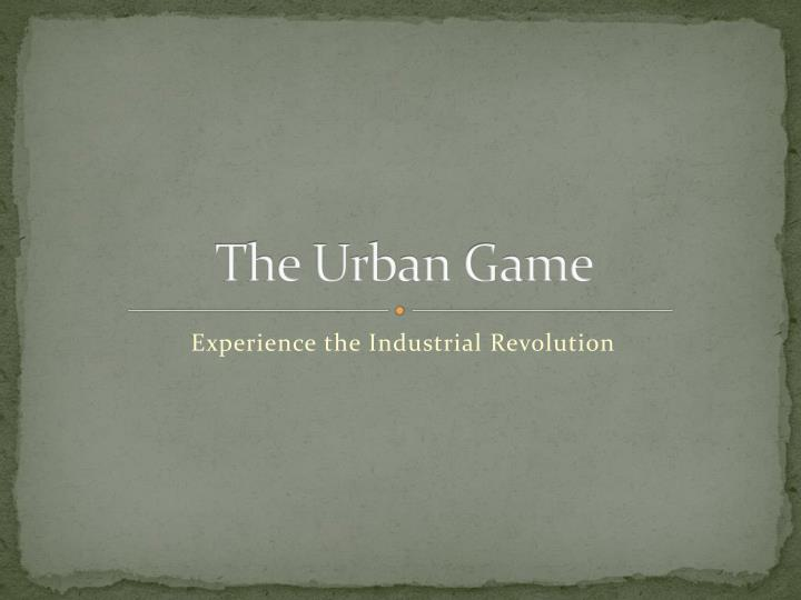 the urban game n.