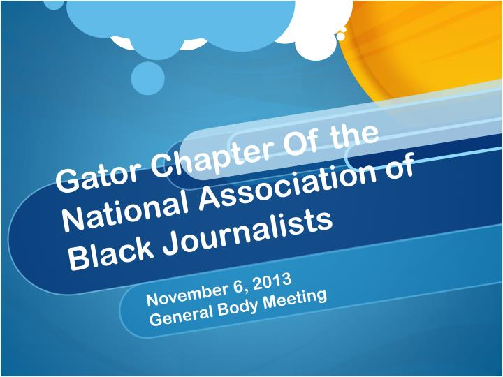 gator chapter of the national association of black journalists n.
