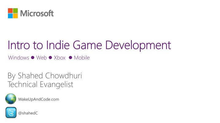intro to indie game development n.
