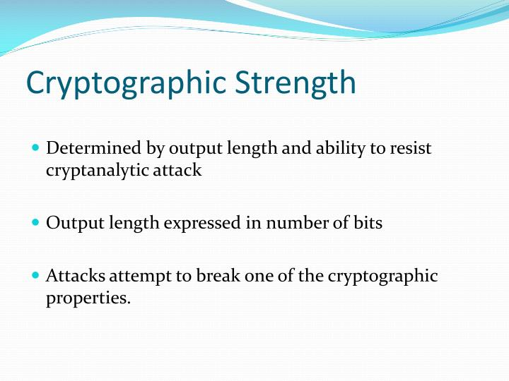 Cryptographic Strength