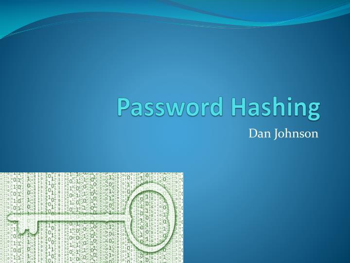 password hashing n.