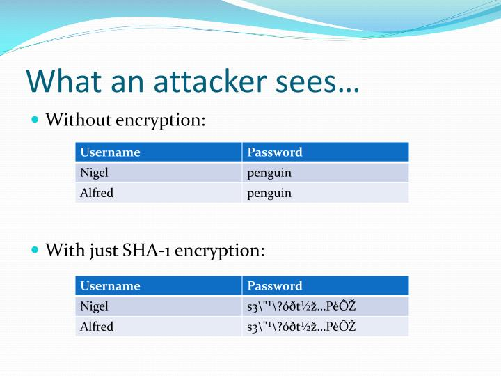 What an attacker sees…