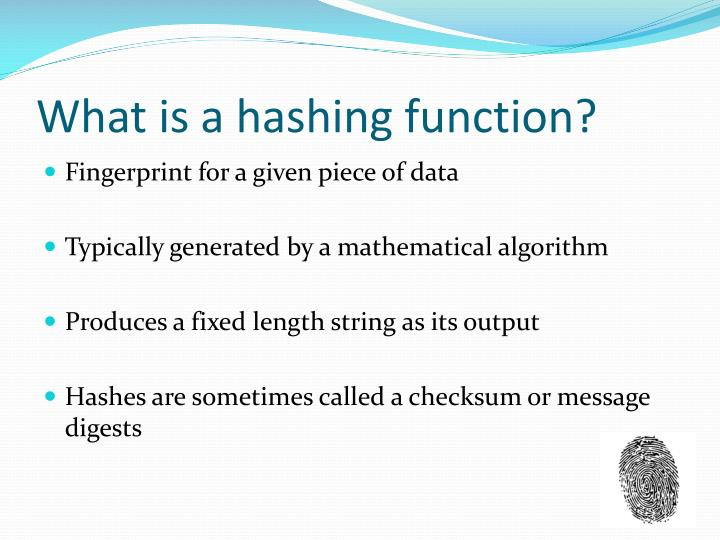 What is a hashing function