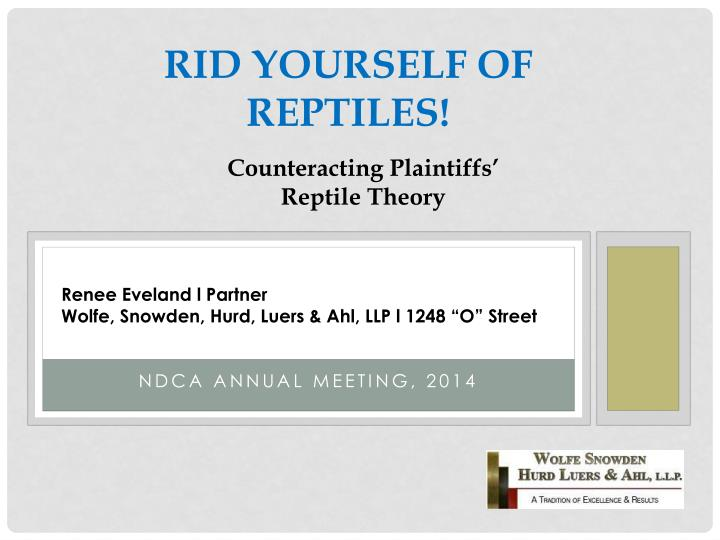 rid yourself of reptiles n.