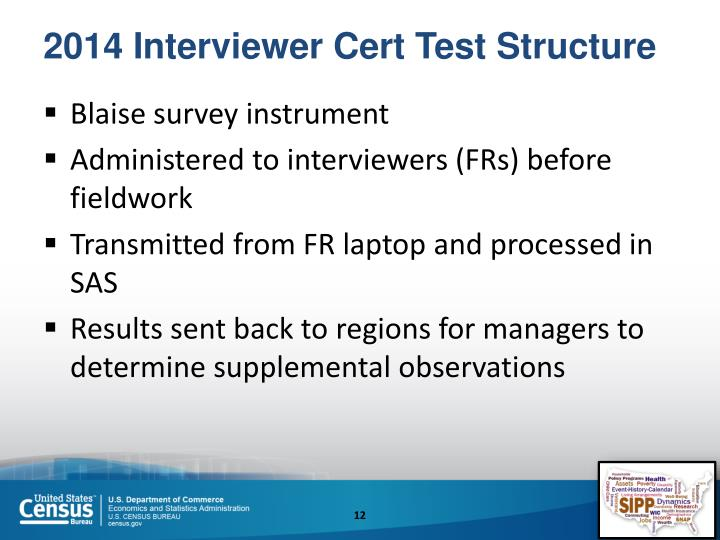 2014 Interviewer Cert Test Structure