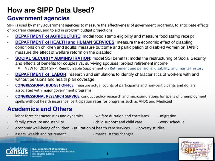 How are SIPP Data Used?