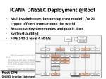 icann dnssec deployment @ root