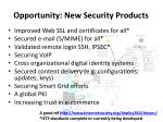 opportunity new security products