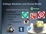 college students and social media