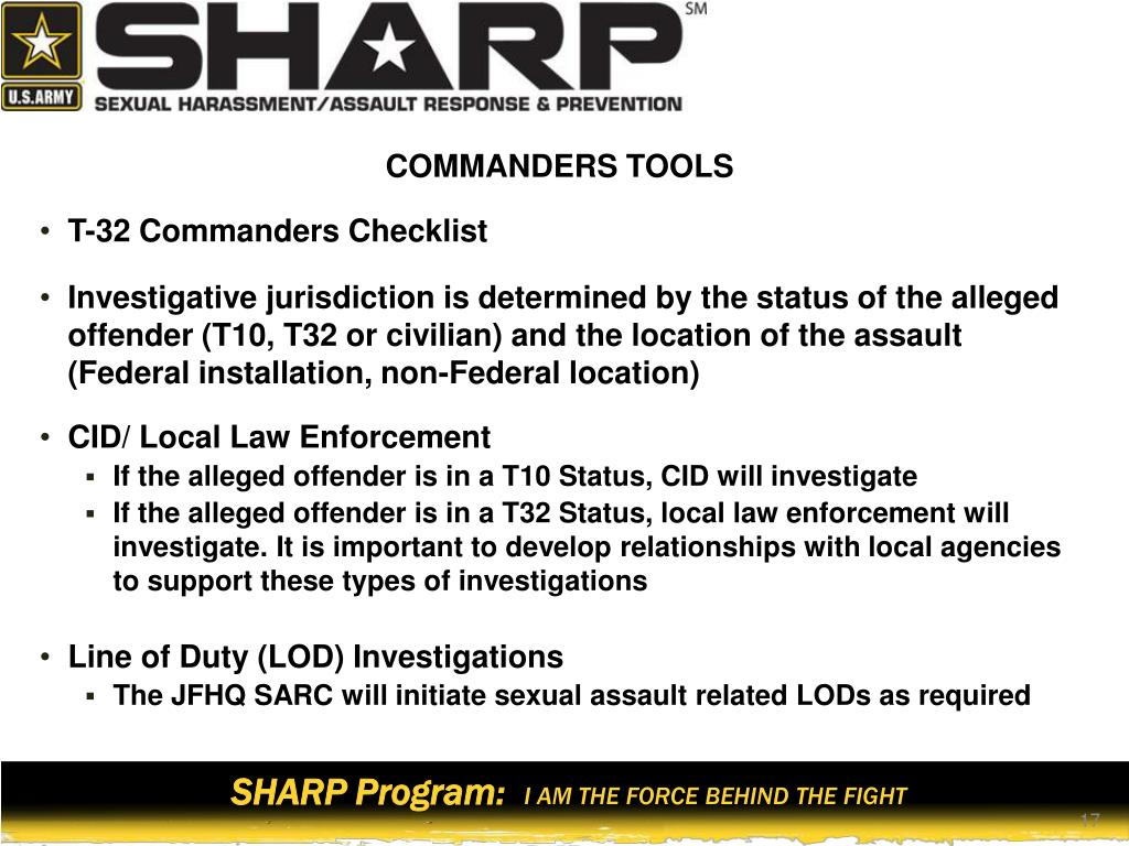 PPT - SHARP Stand-down Refresher Training Commanders and