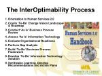 the interoptimability process