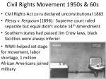 civil rights movement 1950s 60s