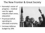 the new frontier great society