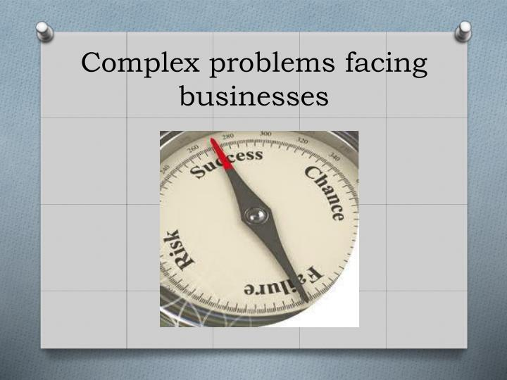 Complex problems facing businesses