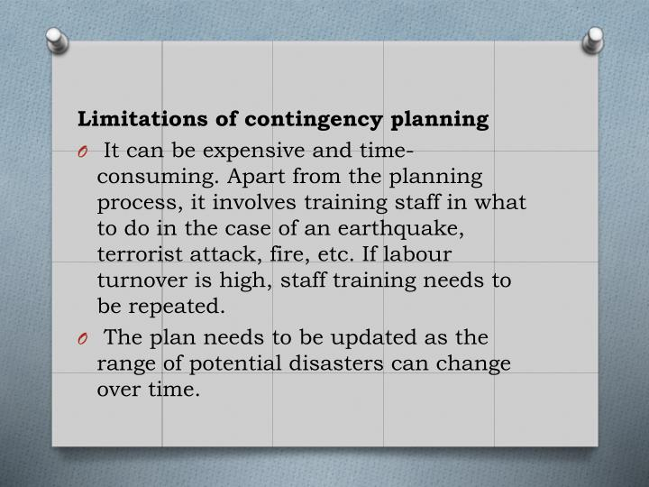 Limitations of contingency planning