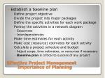 effective project management importance of planning