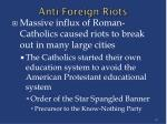 anti foreign riots