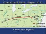 cumberland road began 1811