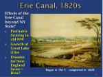 erie canal 1820s