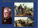 john deere the steel plow 1837