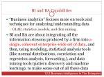 bi and ba capabilities