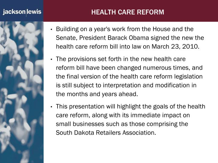 the new healthcare reform essay The patient protection and affordable care act (ppaca) which was introduced by obama in 2010 creates a new structure of health care health care reform essay.