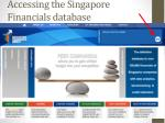 accessing the singapore financials database1