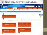 finding company information2