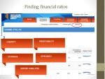 finding financial ratios