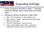 expanding suffrage