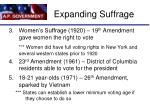 expanding suffrage1