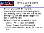 what s your political belief