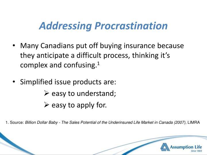 Addressing Procrastination