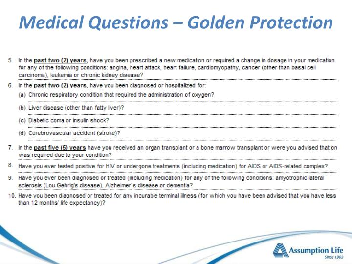Medical Questions – Golden Protection