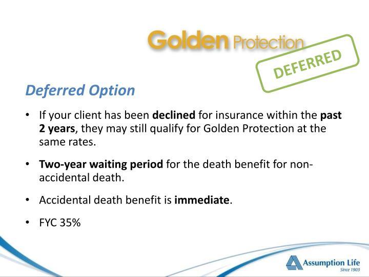 Deferred Option