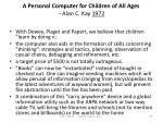 a personal computer for children of all ages alan c kay 1972