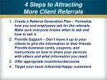 4 steps to attracting more client referrals