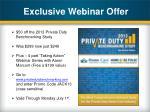 exclusive webinar offer