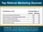 top referral marketing sources