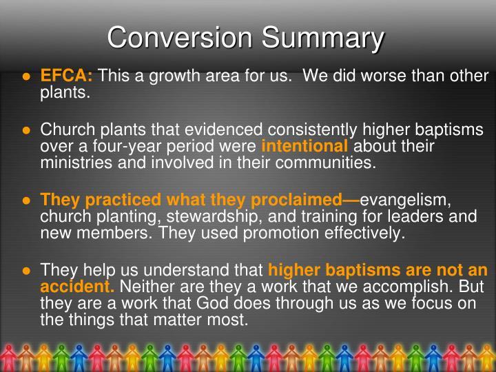 Conversion Summary