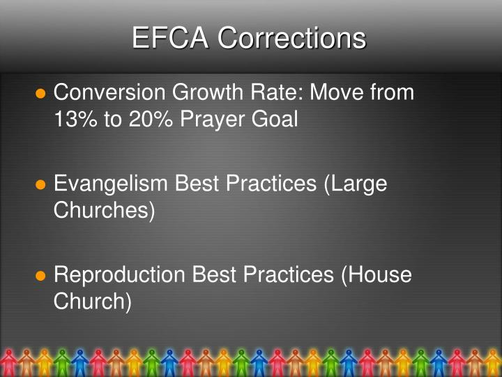 EFCA Corrections