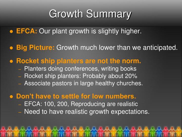 Growth Summary